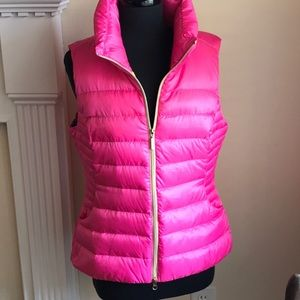 Lilly Pulitzer pink puffer down vest size large